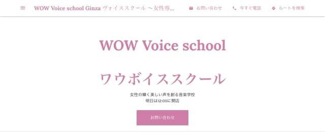 WOW Voice school